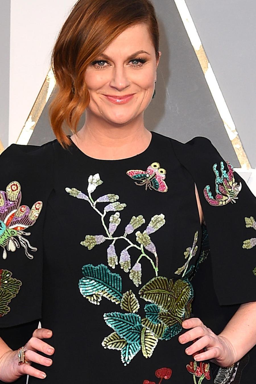 Amy Pohler en la alfombra roja de los Premios Oscar 2016