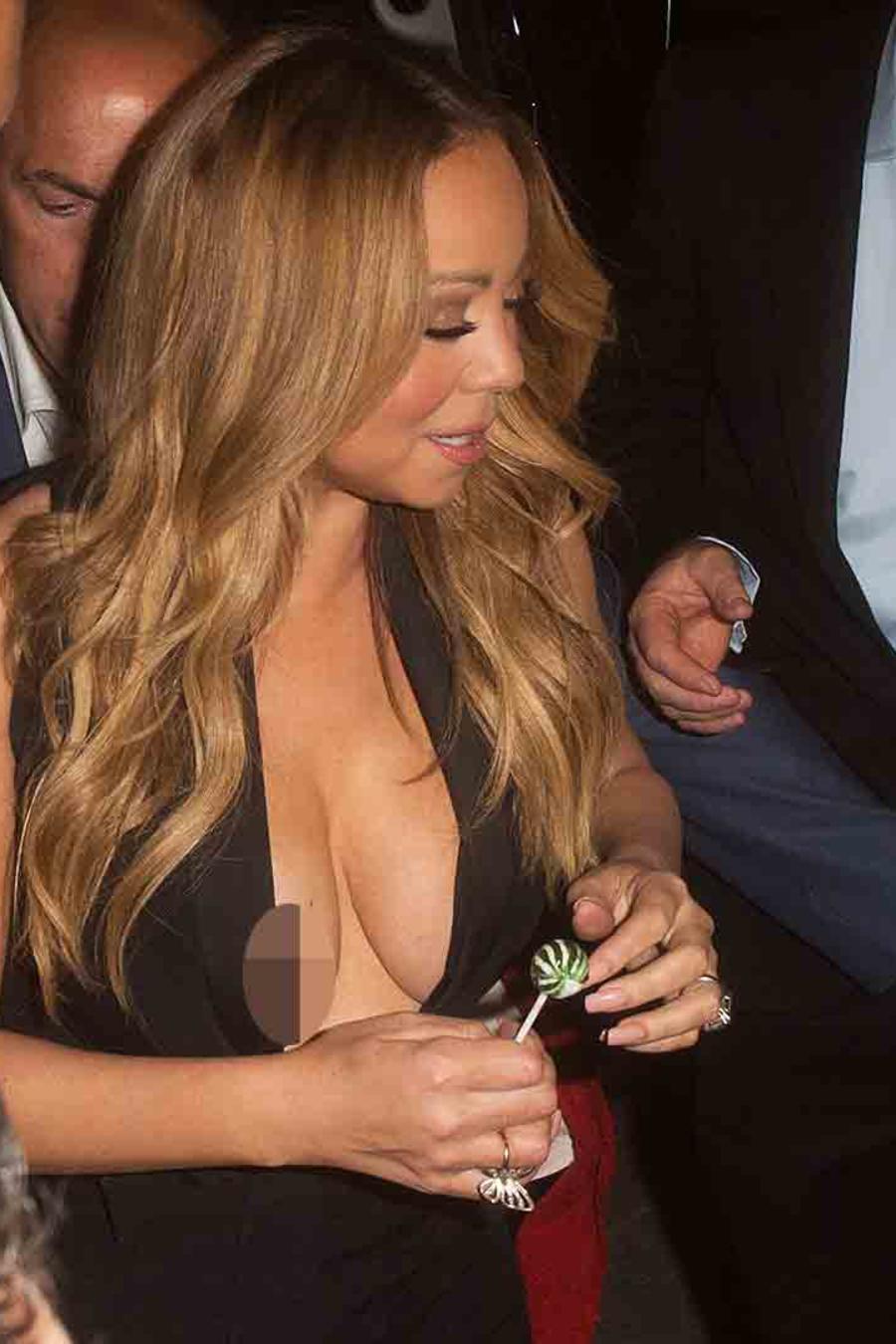 Mariah Carey sufrió una falla de vestuario