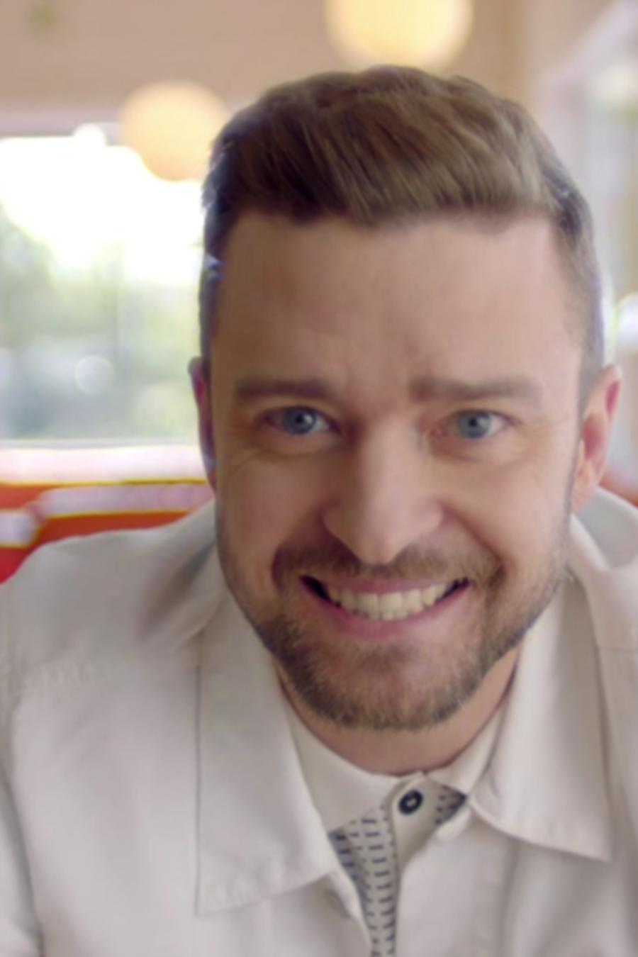 Justin Timberlake en el video musical Can't stop the feeling