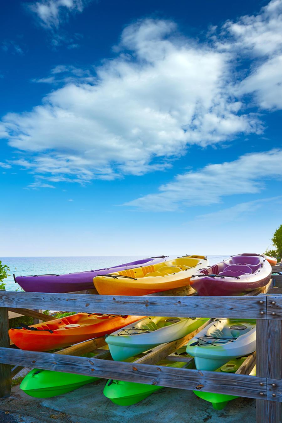 Kayaks en Bahía Honda