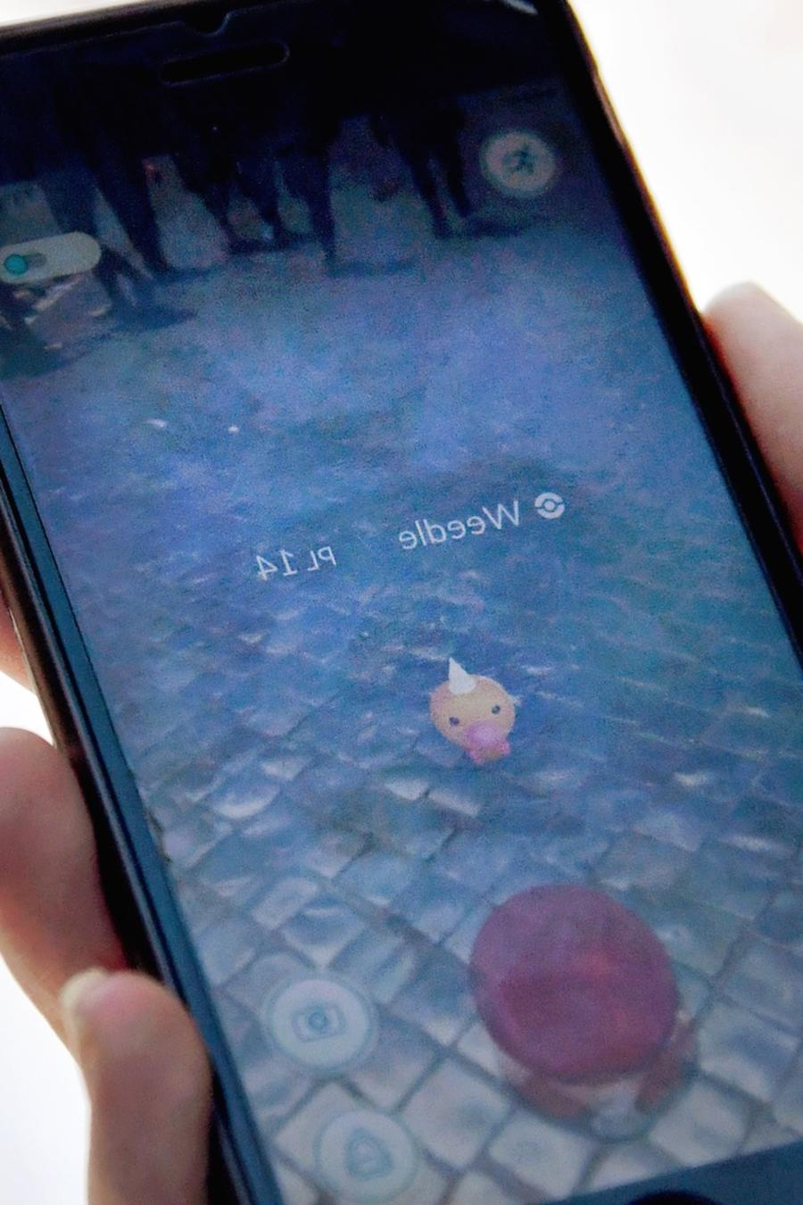 Pokémon Go en teléfono móvil