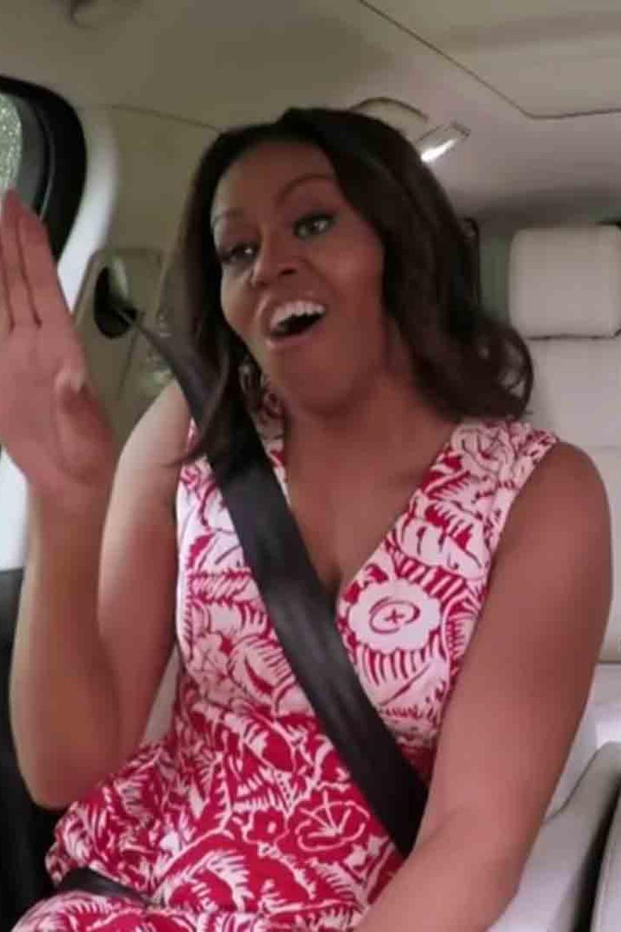 """Michelle Obama y James Corden en """"Carpool Karaoke"""""""