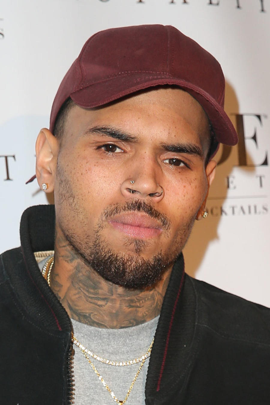 """Chris Brown en su fiesta de lanzamiento del álbum """"Royalty"""""""