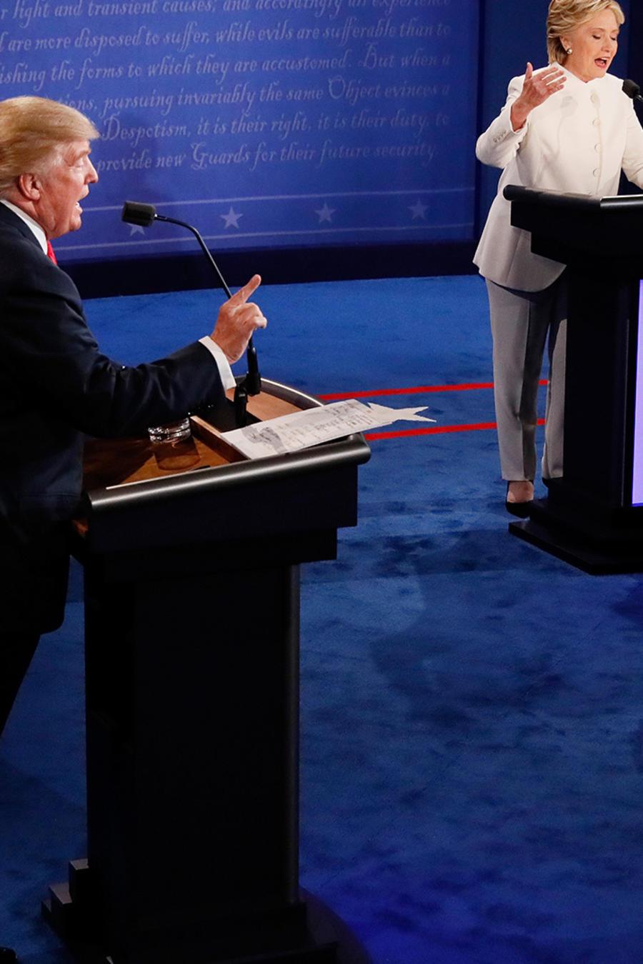 Trump y Clinton en su último debate el 19 de Octubre en Nevada
