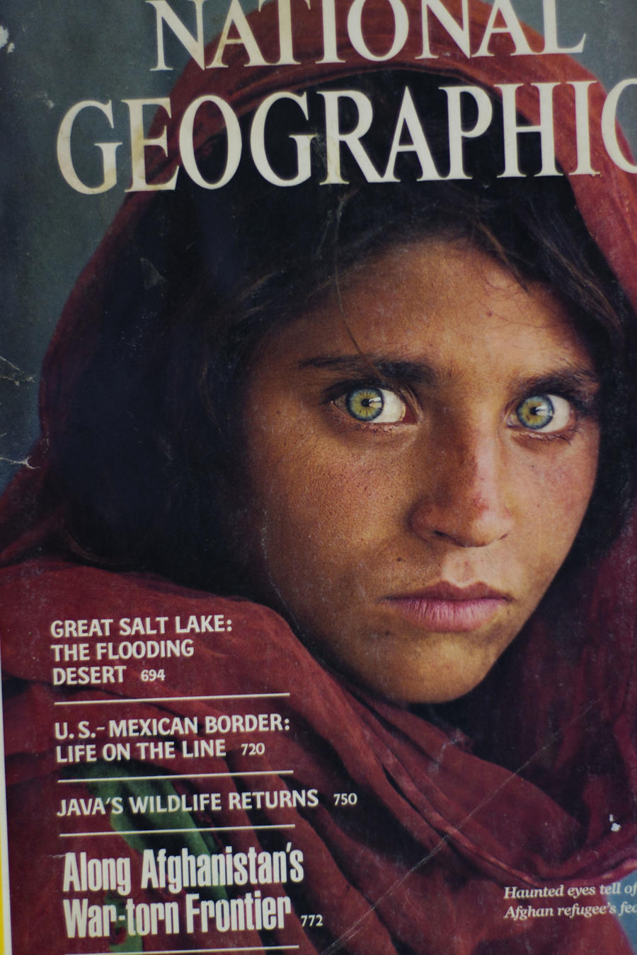 Niña afgana en National Geographic