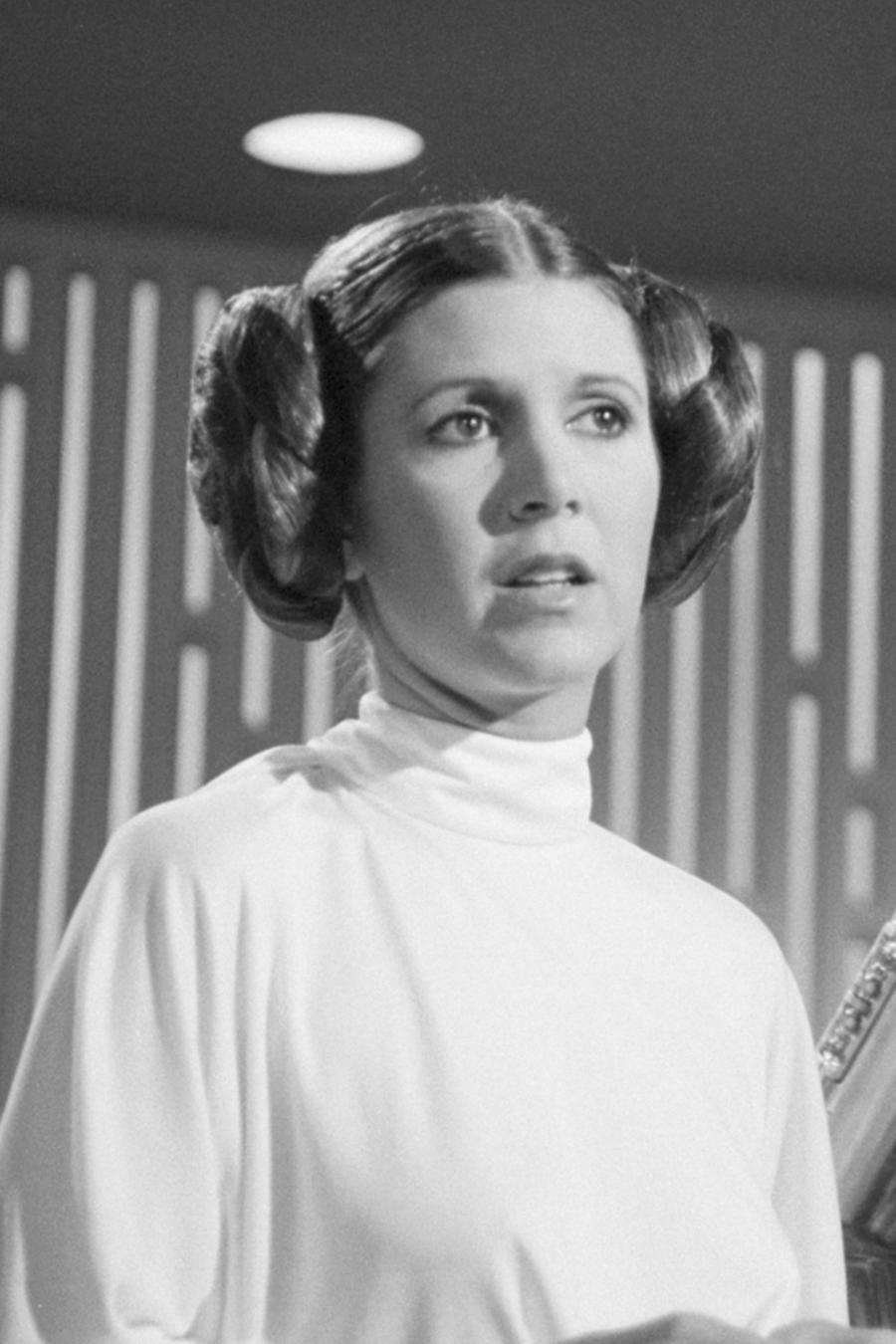 Carrie Fisher y princesa Leia