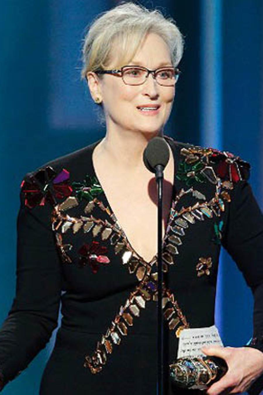Meryl Streep en los Golden Globes 2017