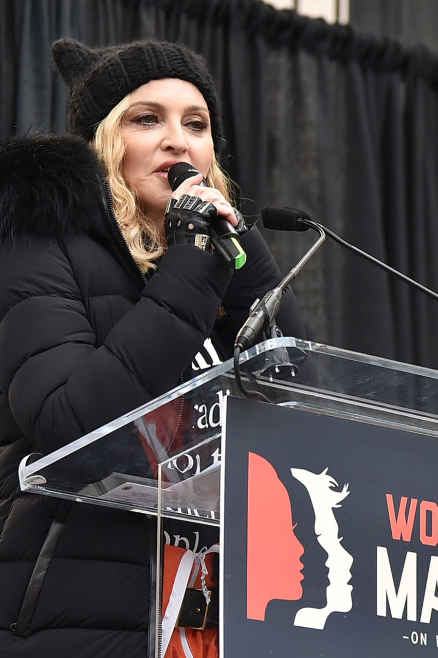 Madonna en su discurso durante Women's March en Washington