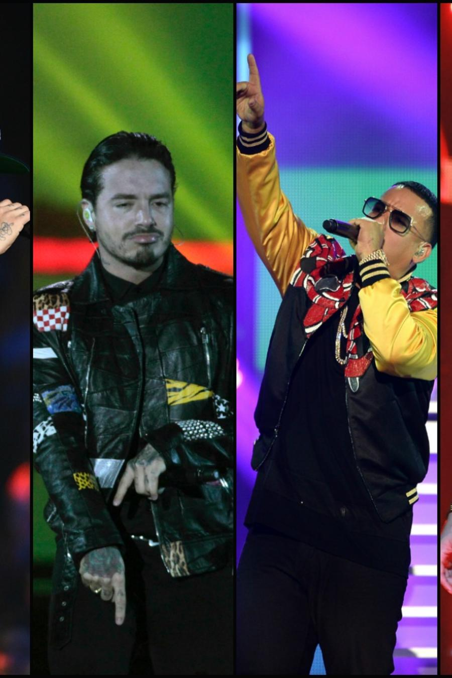 Nicky Jam, J Balvin, Daddy Yankee y Maluma - Collage