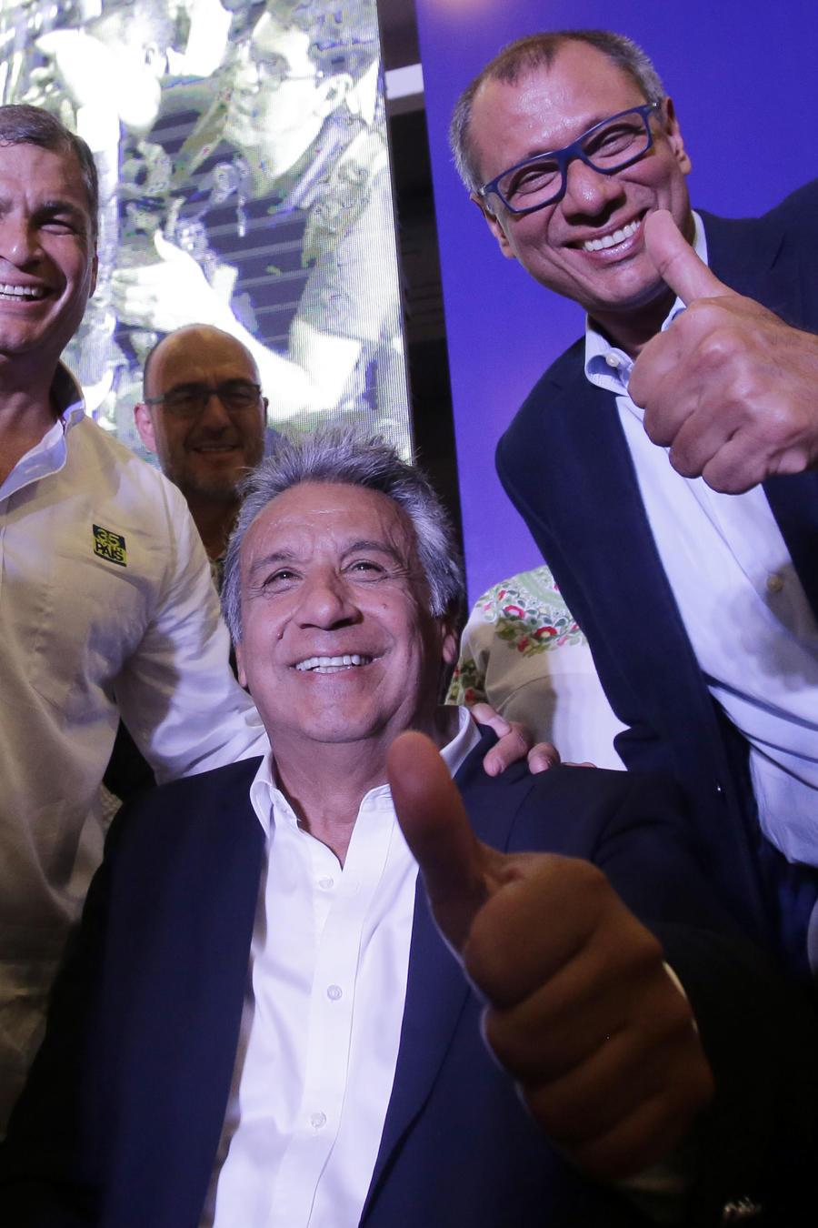Rafael Correa,Lenin Moreno,Jorge Glas