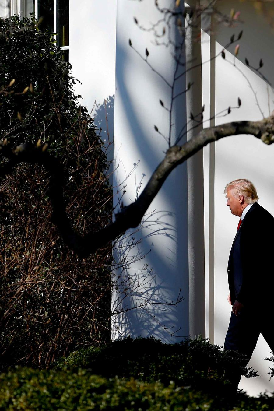 El presidente Trump en la Casa Blanca