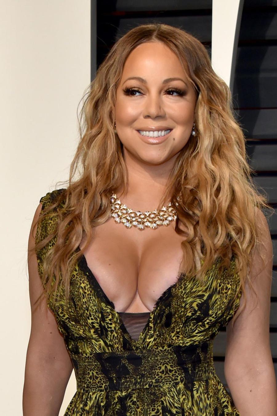 Mariah Carey en la fiesta de Vanity Fair, después de los Premios Oscar 2017