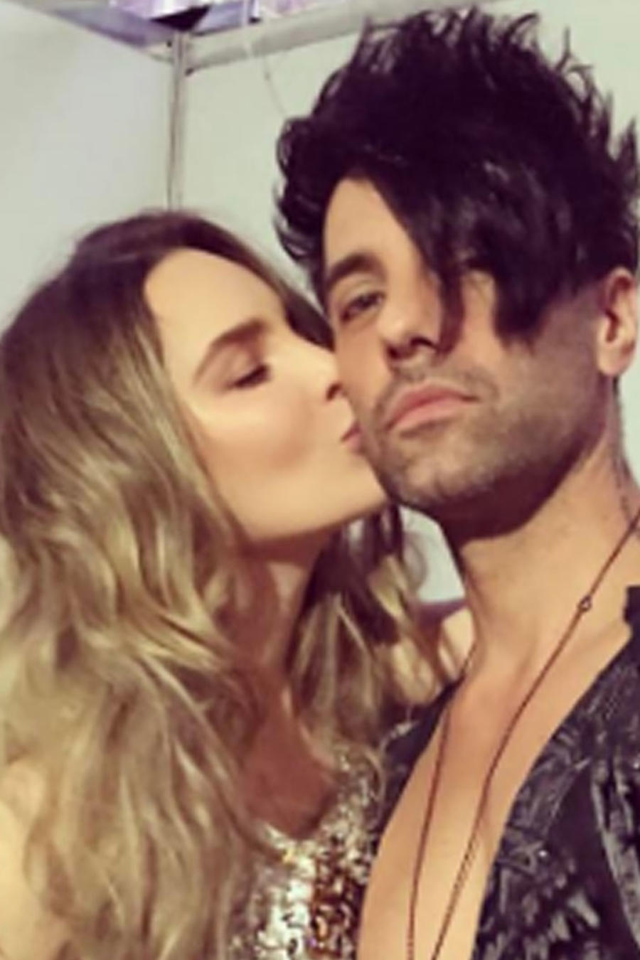 Belinda y su novio Criss Angel