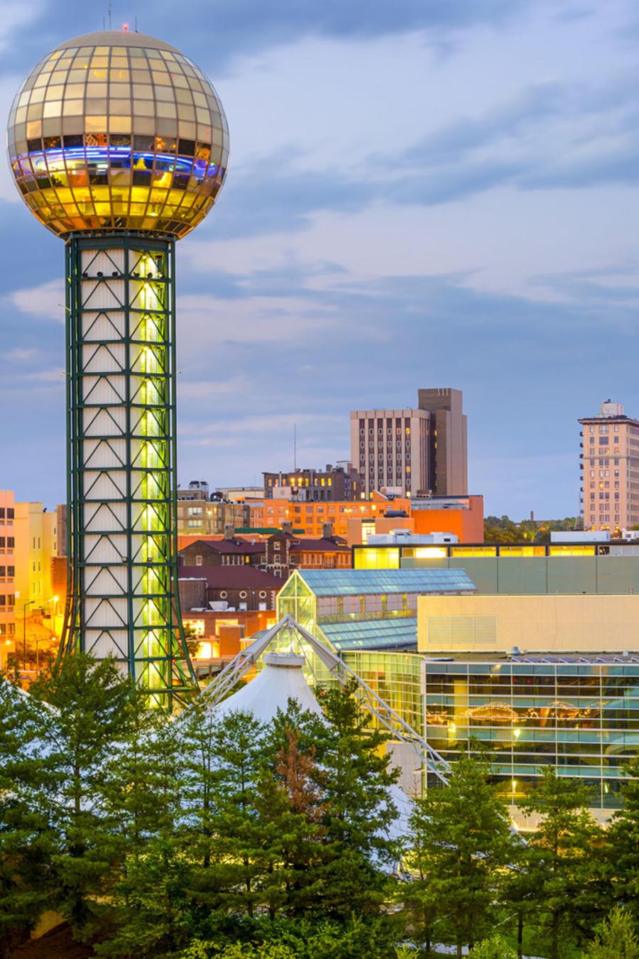 Ciudad de Knoxville, en Tennessee
