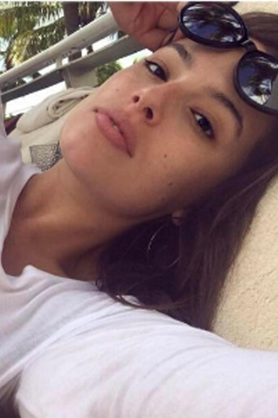 Ashley Graham sin maquillaje