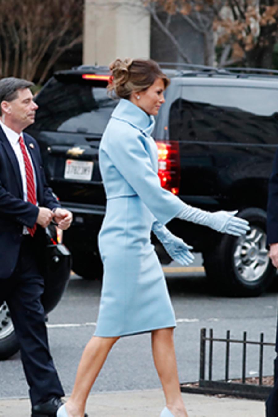 Donald y Melania Trump con el  Servicio Secreto