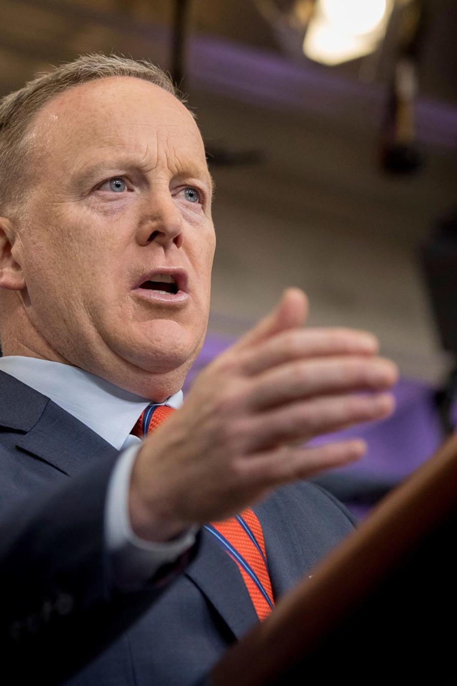 El portavoz de la Casa Blanca, Sean Spicer, el 11 de abril de 2017