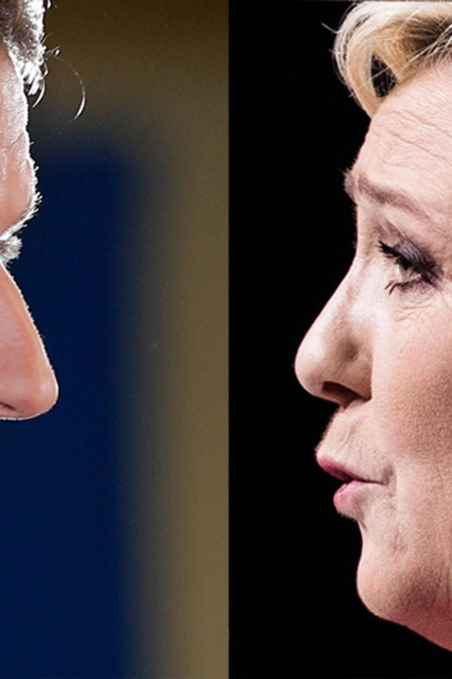 El centrista Emmanuel Macron y la ultraderechista Marine Le Pen, los candidatos a la presidencia de Francia que pasaron a la segunda vuelta de las elecciones que se realizarán el 7 de mayo del 2017