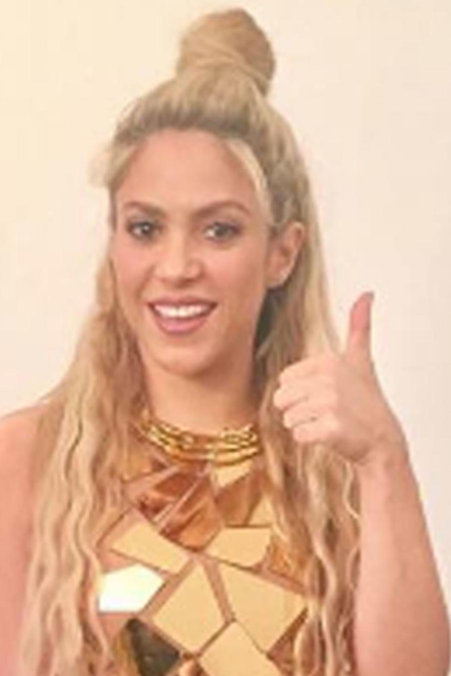 Shakira en la presentación de su nuevo álbum