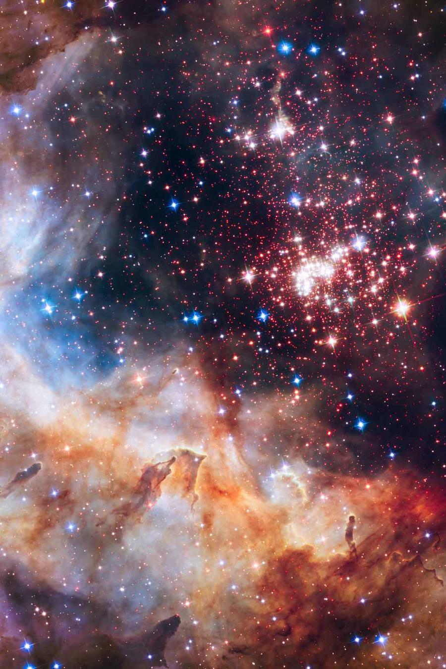 Estrellas brillan en el firmamento