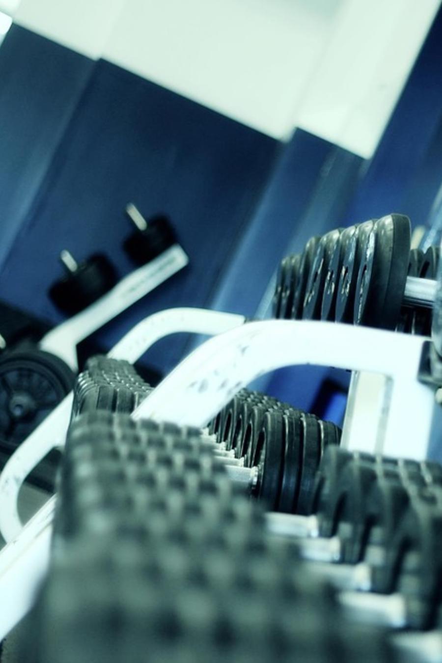 pesas de gimnasio