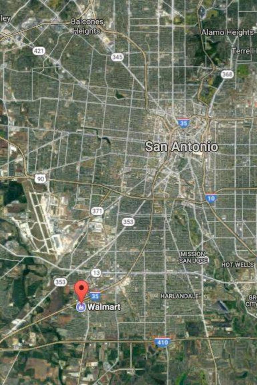 Google Map zona San Antonio