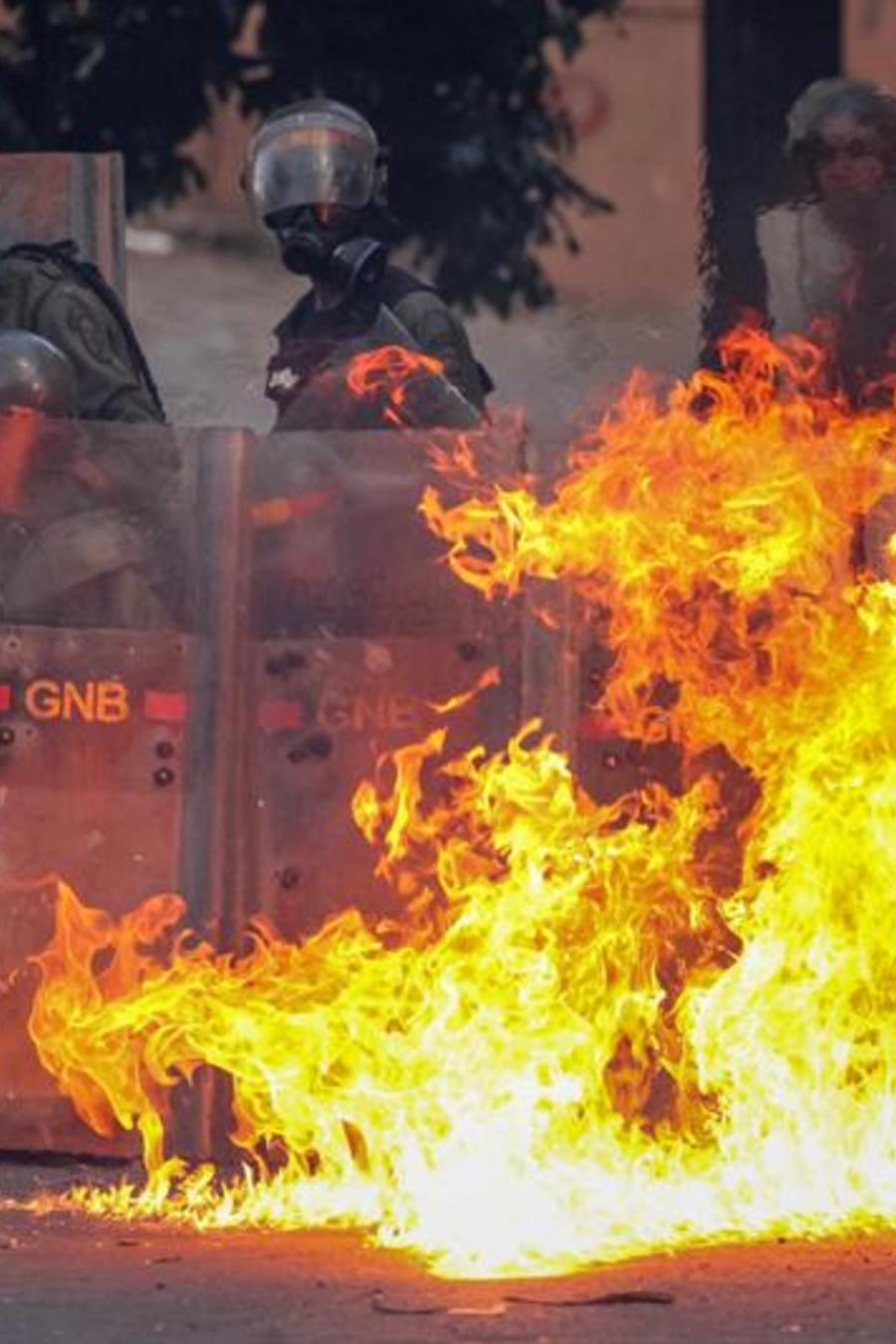 Represión en marchas en Venezuela