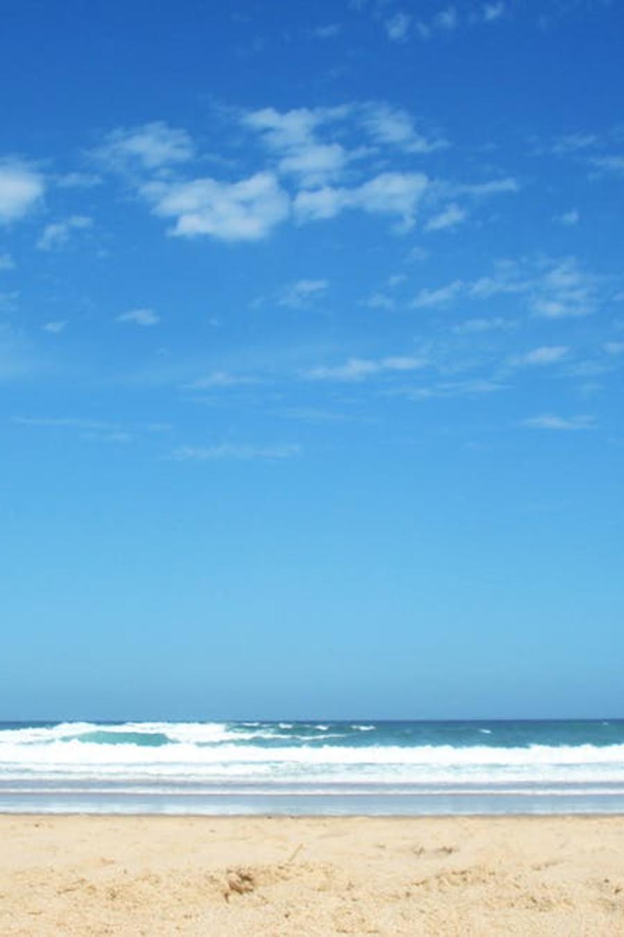 cielo en la playa