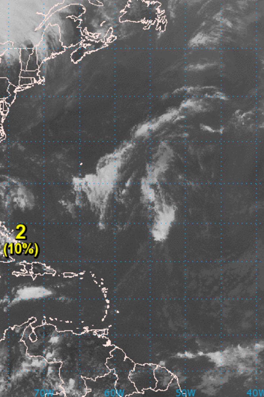 Pronóstico del Centro Nacional de Huracanes del 22 de agosto.
