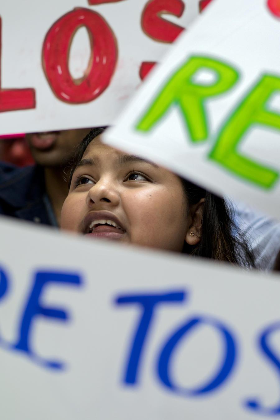 Protesta a favor de DACA el 15 de agosto en Nueva York.