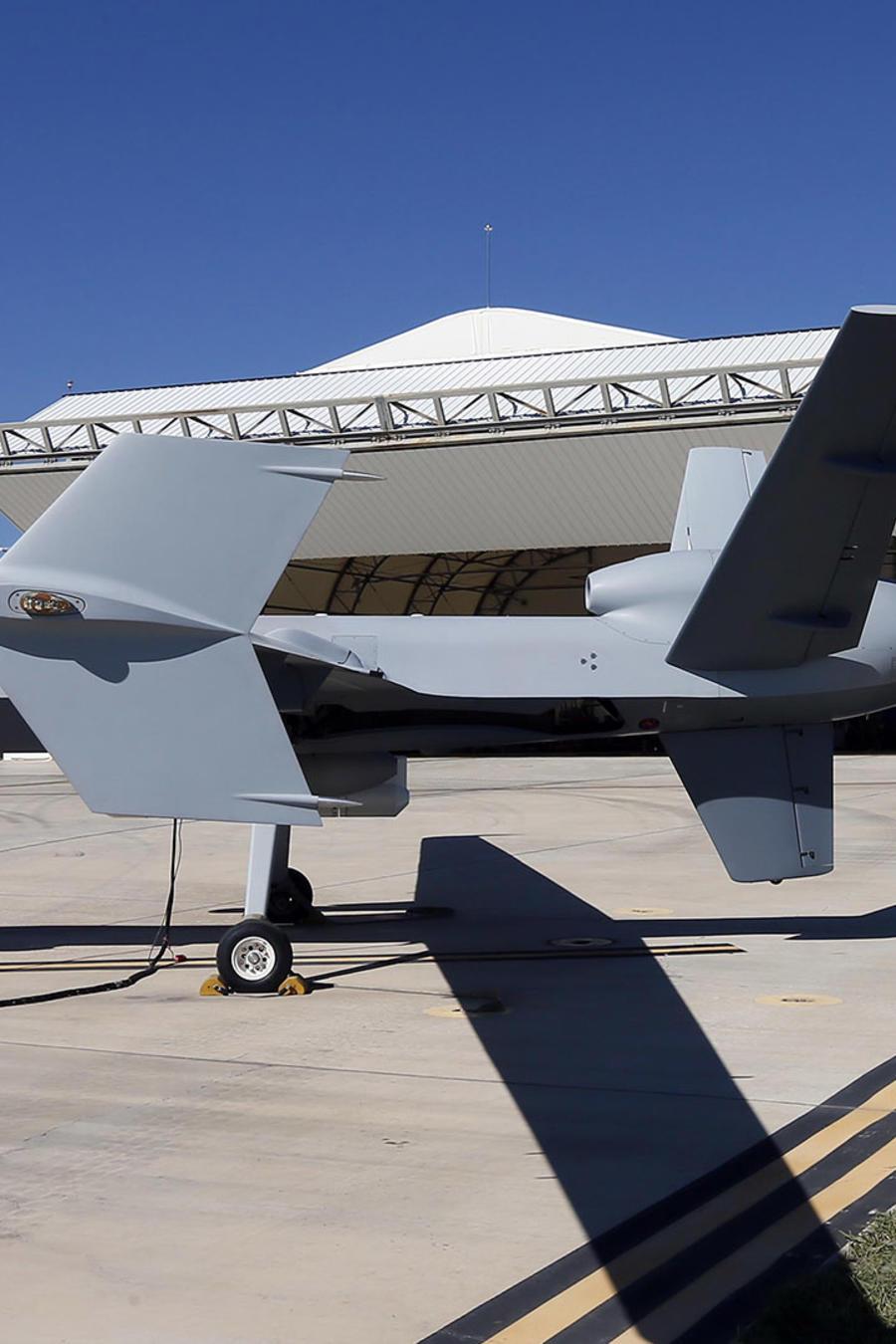 En esta foto, correspondiente a 2014, aparece un drone del Servicio Fronterizo y de Aduanasen Huachuca en Sierra Vista, Arizona, como los que está previsto que se utilicen en la frontera con México.