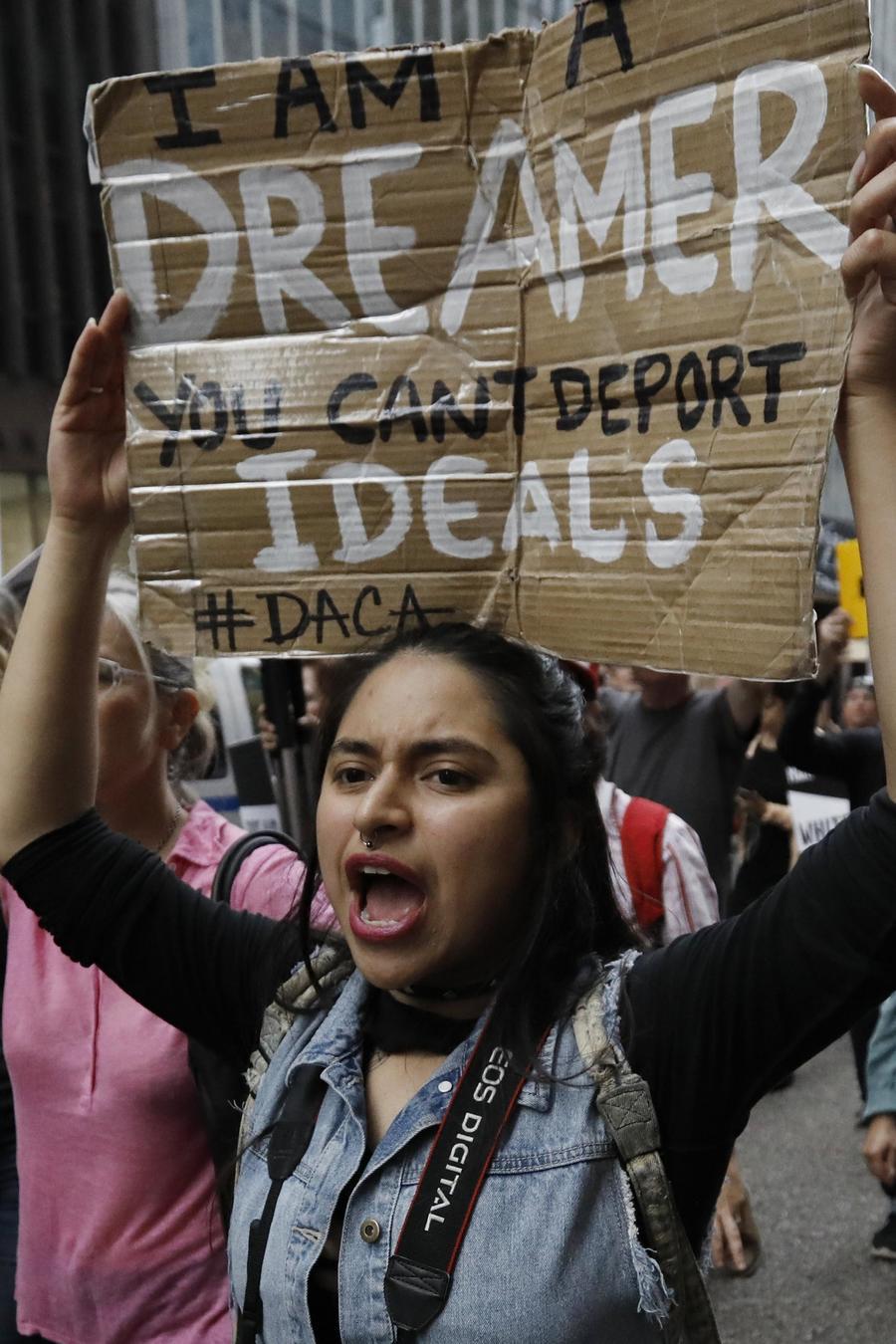 Protestas en contra del presidente estadounidense Donald J. Trump, en Nueva York