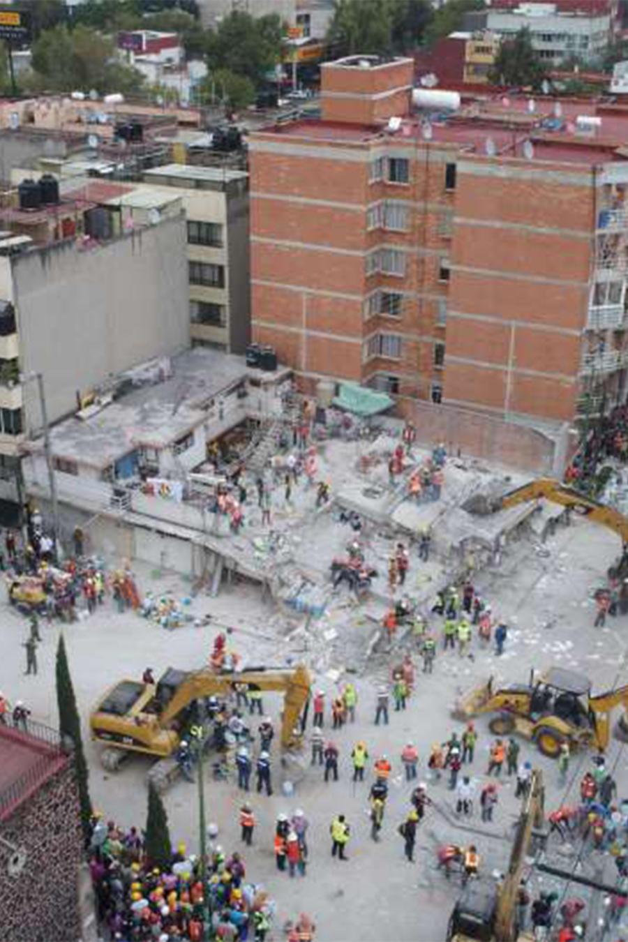 Uno de los edificios derrumbados a causa del terremoto de magnitud 7,1 que azotó a México en septiembre.