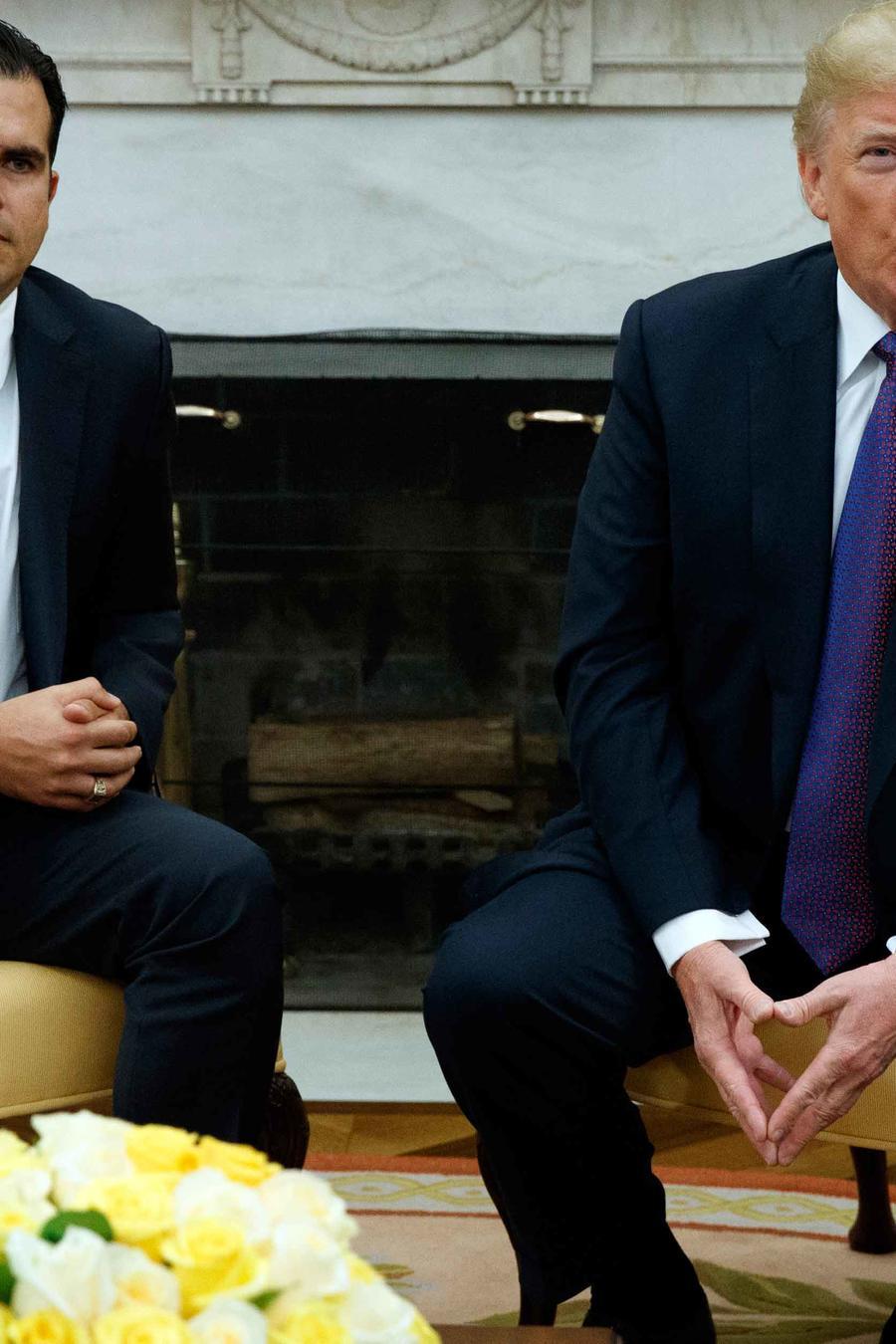 El presidente Trump recibió en la Casa Blaca al gobernador de Puerto Rico, Ricardo Rosselló