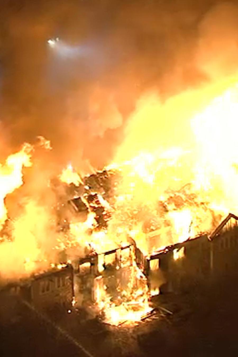 Imagen del incendio en un hogar de mayores en Pensilvania.