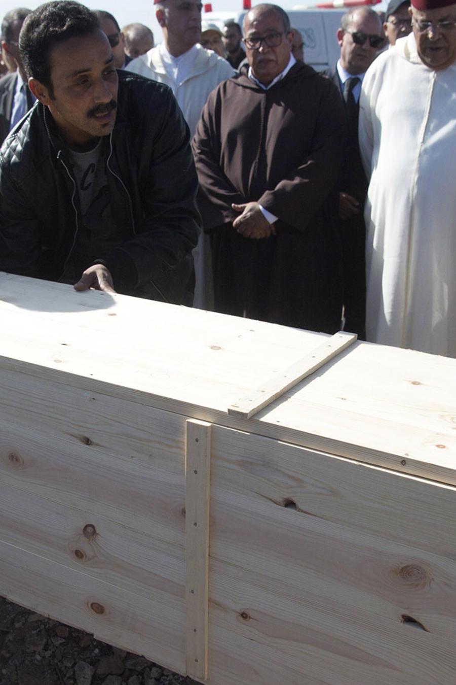 Funeral de las víctimas de la avalancha humana en una localidad al sur de Marruecos
