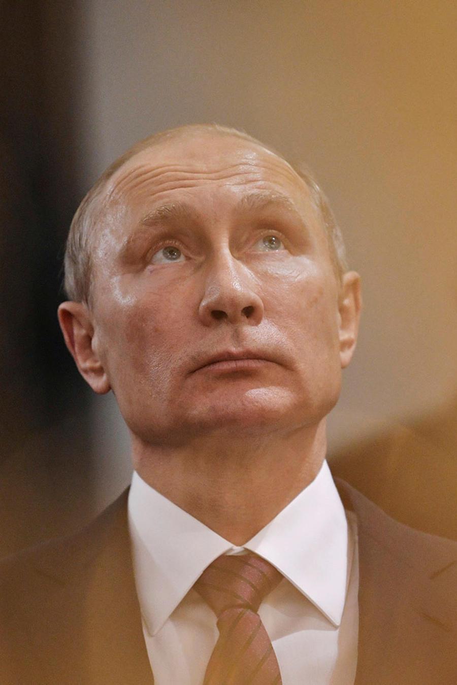 El presidente ruso, Vladimir Putin, el pasado 15 de noviembre, durante una visita al Monasterio de la Resurrección Nuevo Jerusalem en Istra, a las afueras de Moscú.