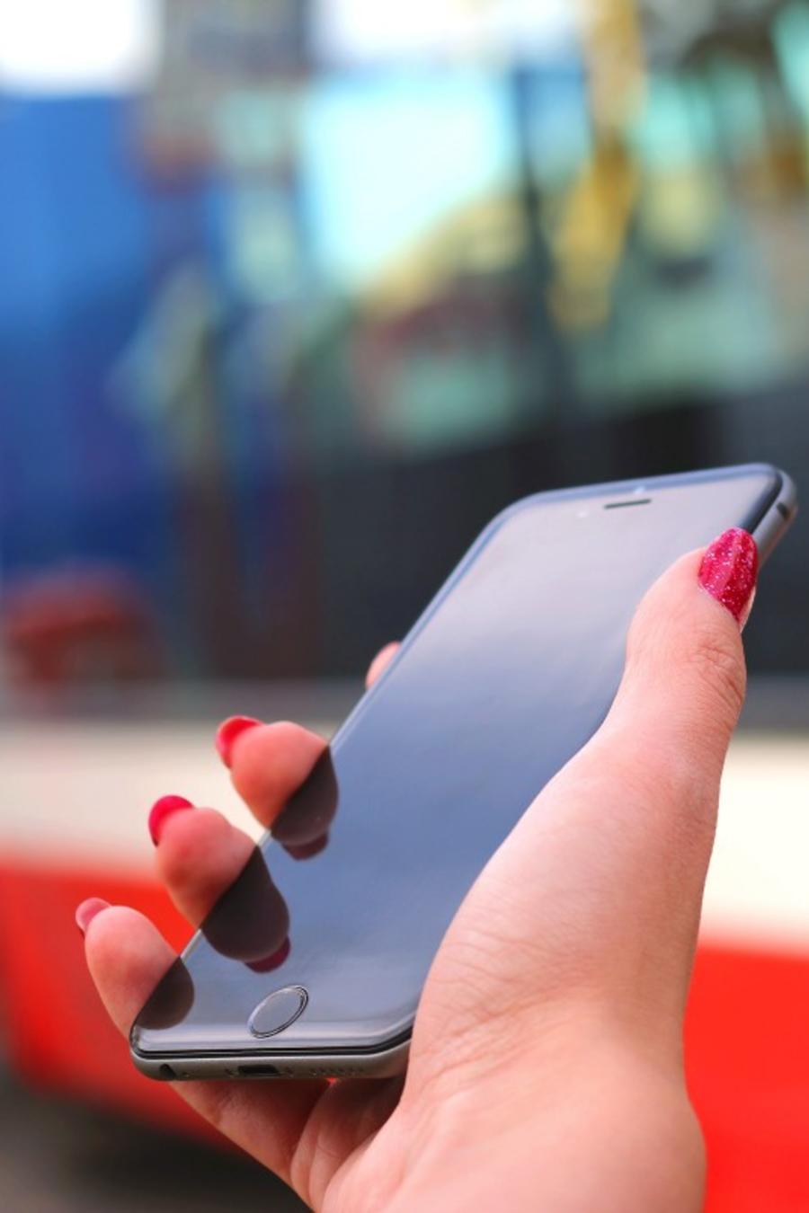 cellphone on hand