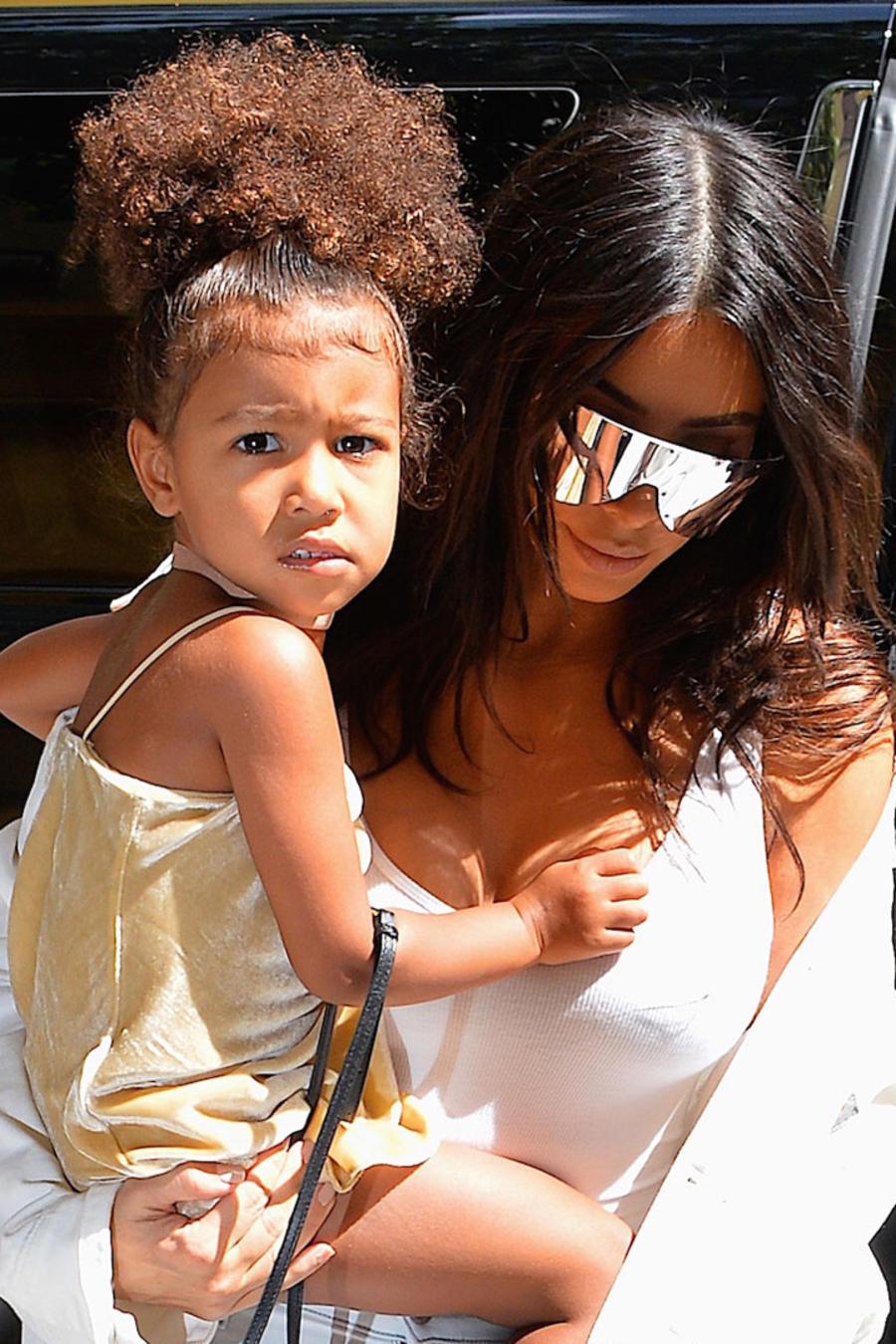 Kim Kardashian con North West
