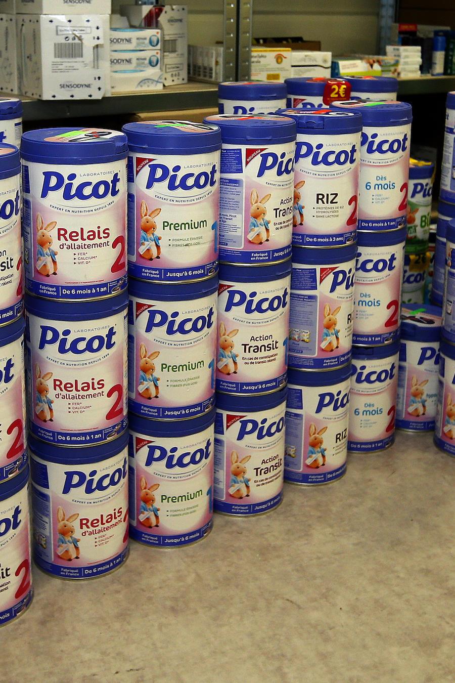 Cajas de productos retirados en Anglet, en el sur de Francia, el 11 de diciembre.
