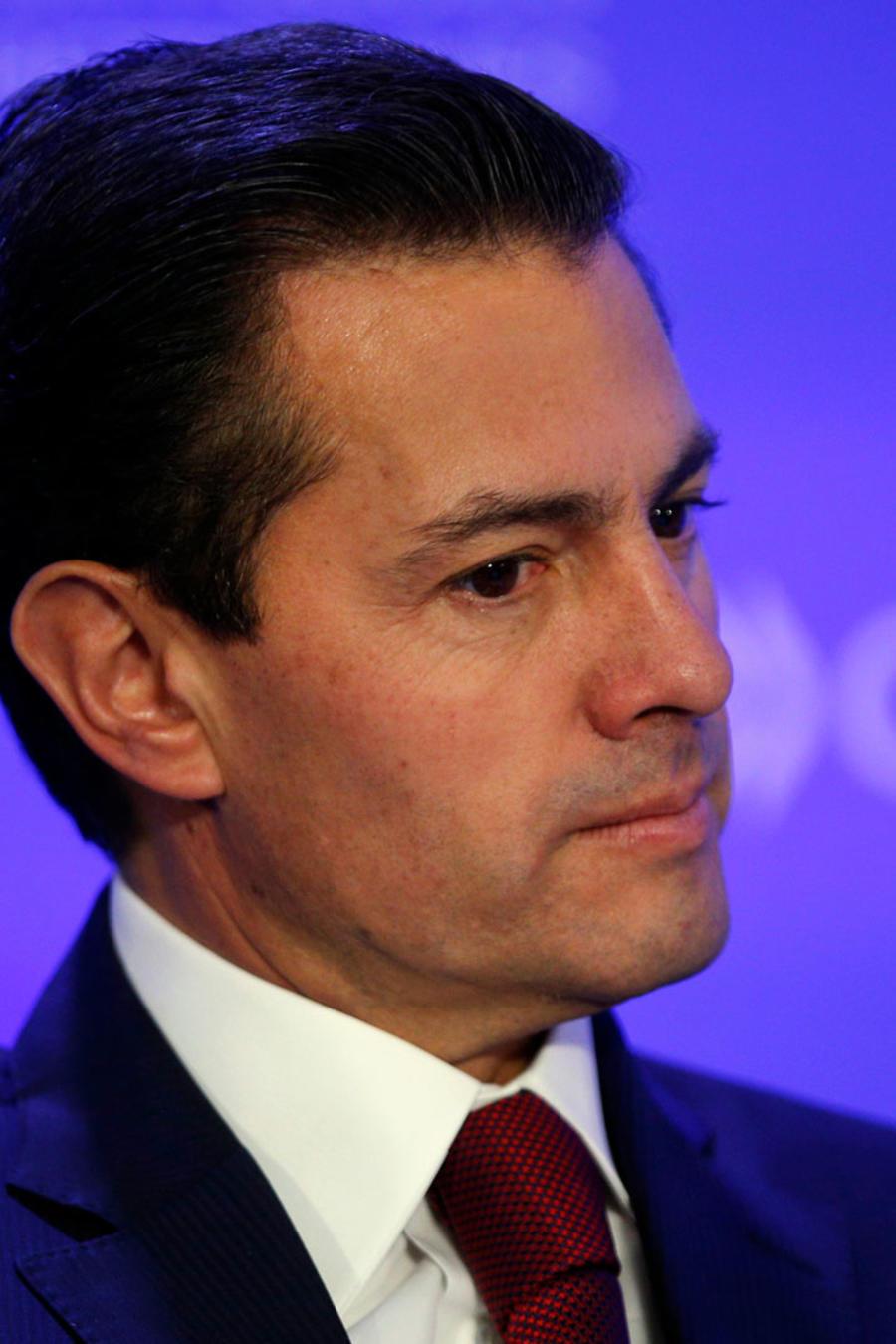 El presidente de México, Enrique Peña Nieto, en su discurso en la OCDE en París