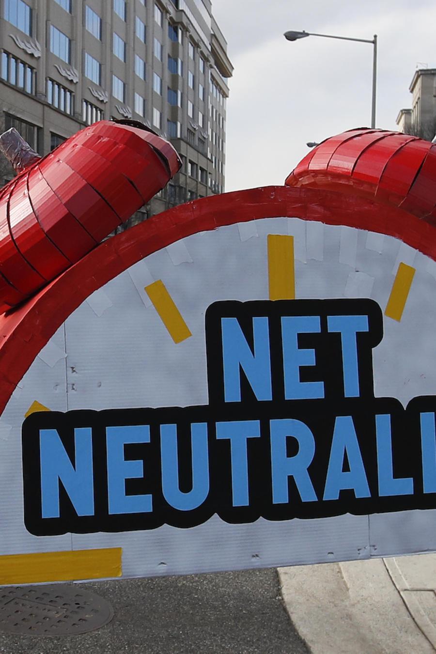 Protesta a favor de la neutralidad de la red, hoy en Washington DC.