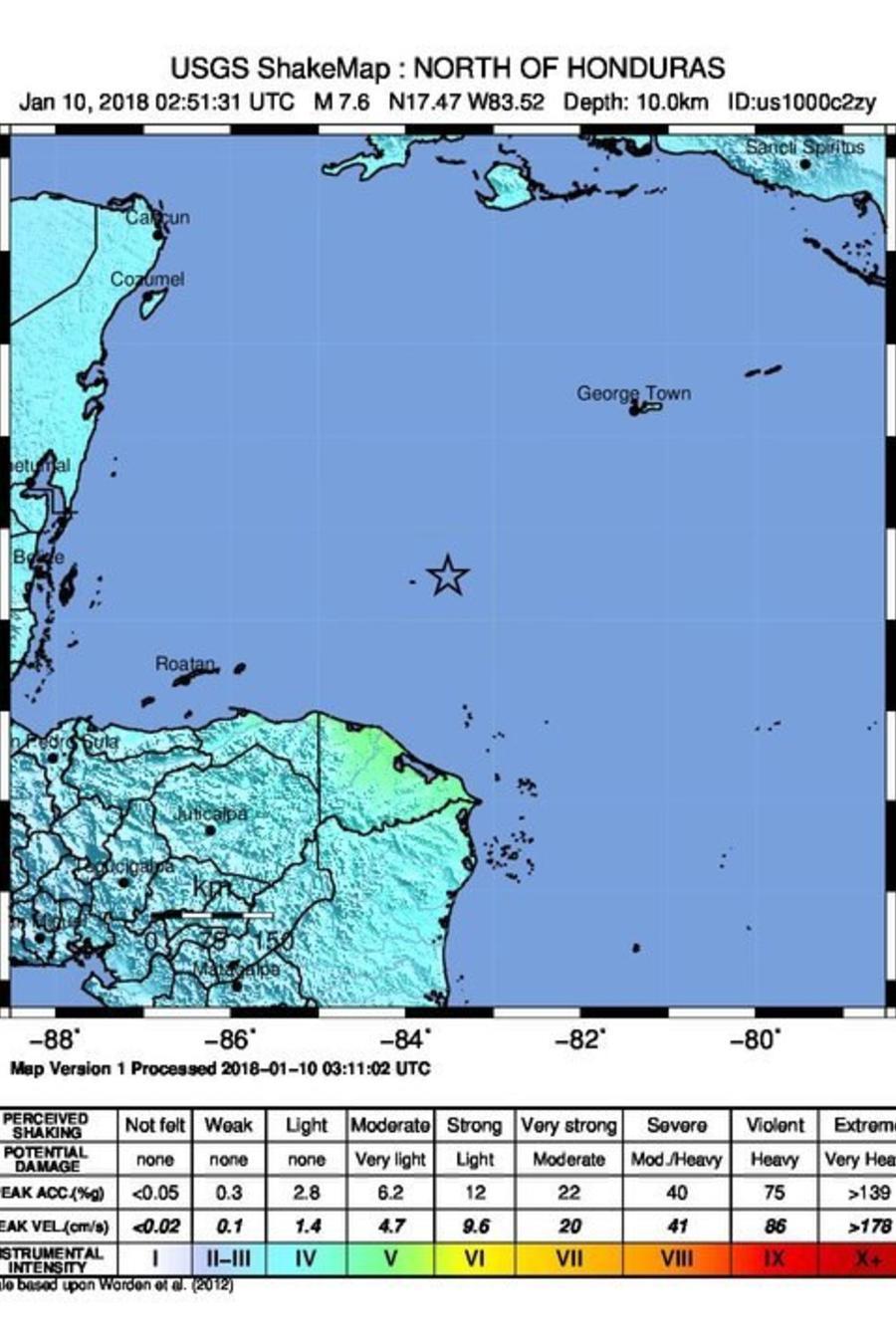 Un fuerte terremoto sacude Honduras y Cuba y provoca una alerta de tsunami