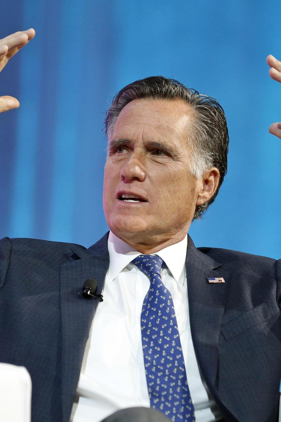 El ex candidato republicano Mitt Romney en una conferencia en Salt Lake City el 19 de enero del 2018.