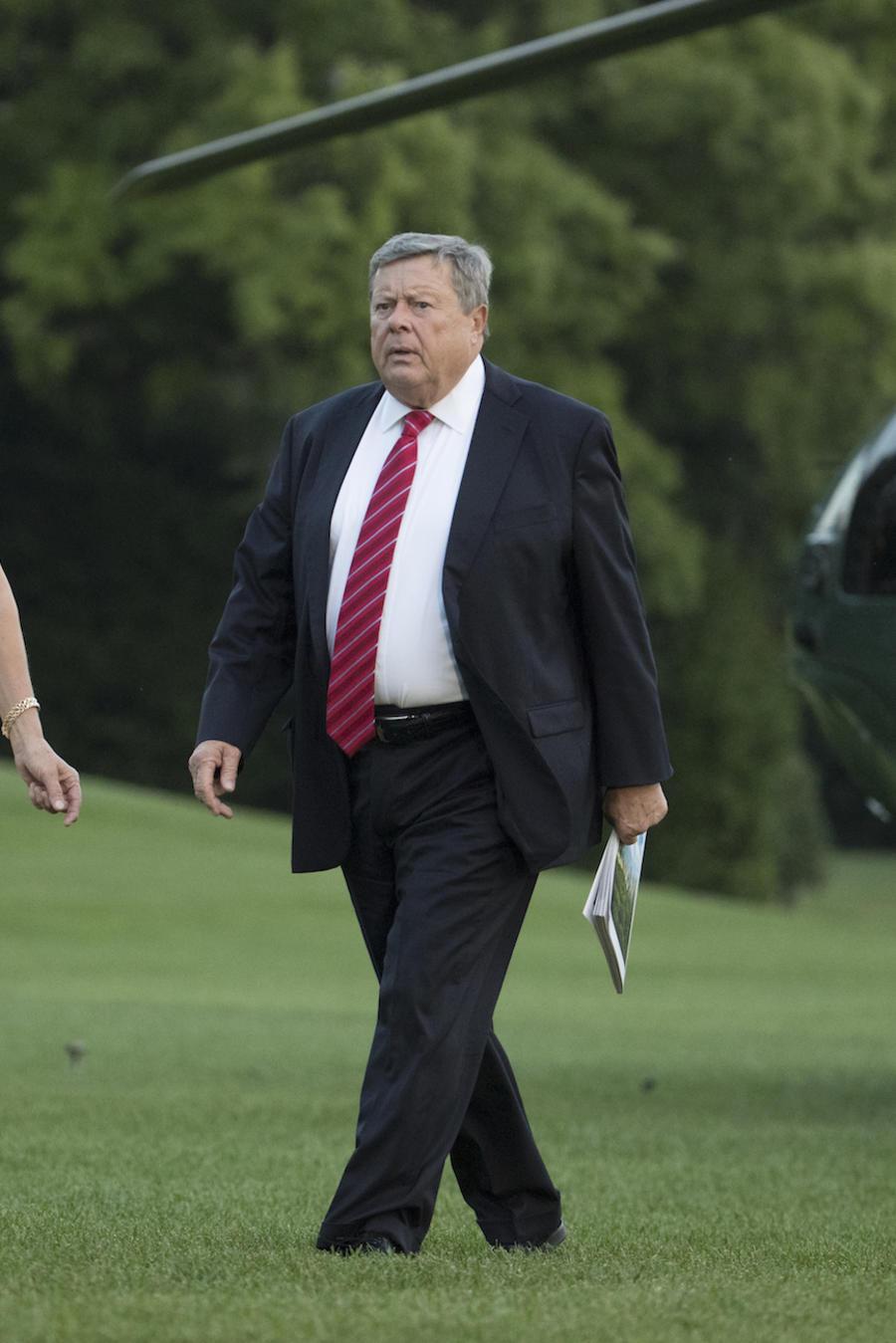 Viktor y Amalija Knavs, padres de Melania Trump, en la Casa Blanca en junio de 2017.