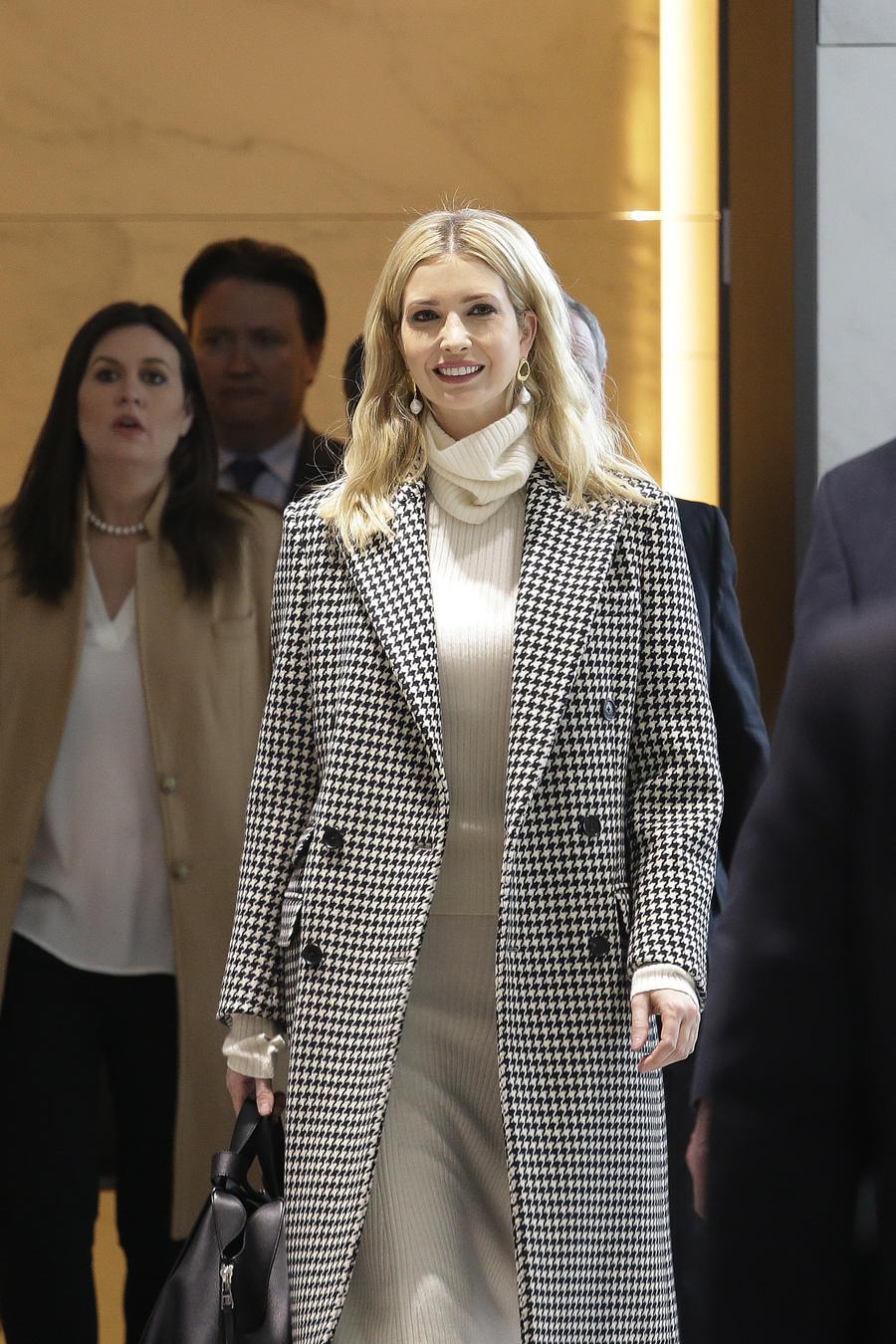 Ivanka Trump, hija y asesora del presidente de Estados Unidos, Donald Trump, a su llegada al aeropuerto internacional Incheon, en Corea del Sur, el 23 de febrero de 2018.