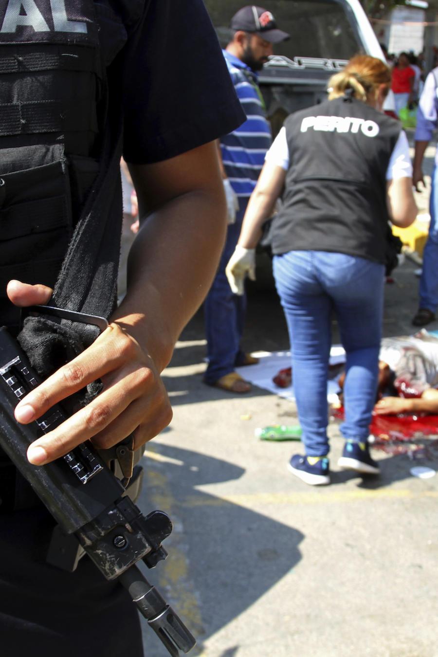 Una asesinato en Acapulco, Guerrero, listada como la tercera ciudad más violenta del mundo, el 4 de enero de 2017.