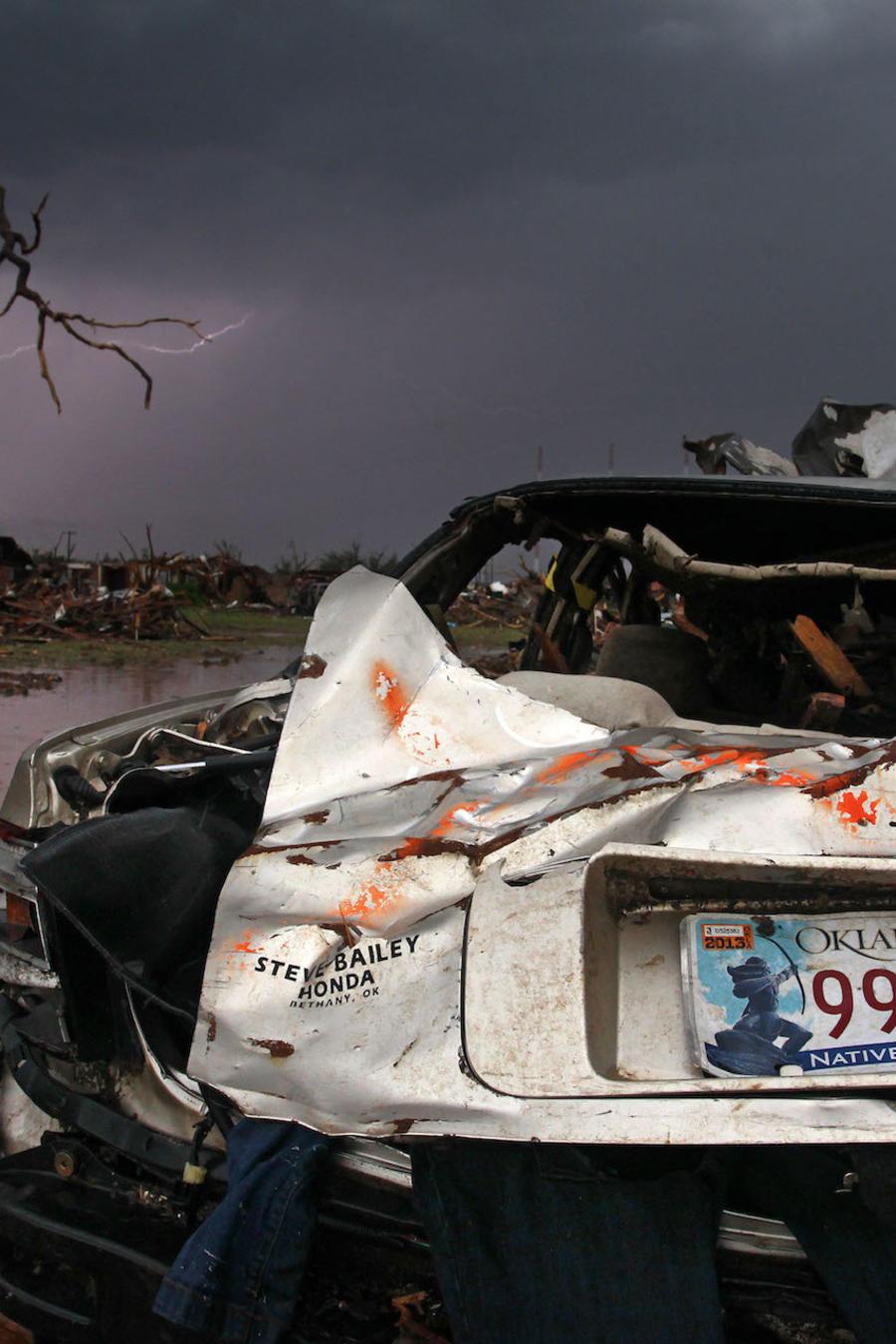 Imagen de archivo de los daños de un tornado en Oklahoma que causó siete muertes en 2013.