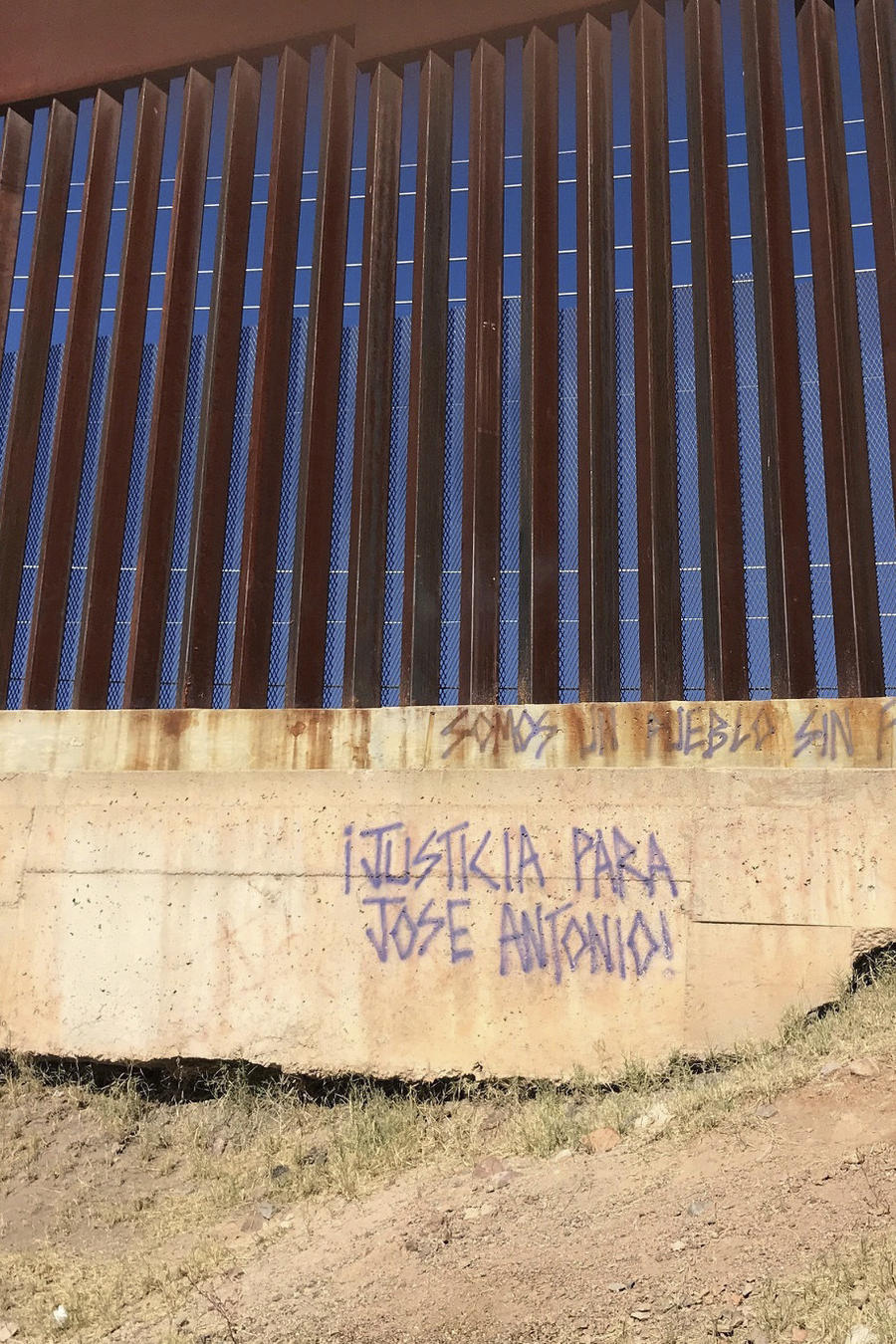 En esta imagen se observa una leyenda pidiendo justicia para el mexicano José Antonio Elena Rodríguez.