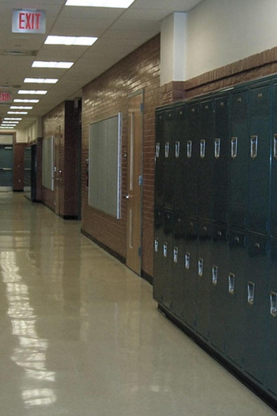 corredor de escuela